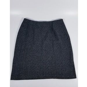 Express- Black & White Pencil Skirt - SMALL